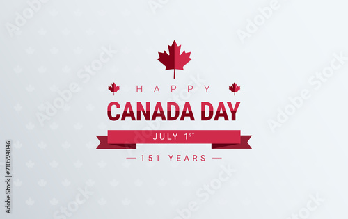 Canada day greeting card background red happy canada day canada day greeting card background red happy canada day typography design canada maple leaf m4hsunfo