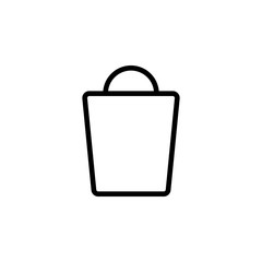 The icon of Shopping bag. Simple outline icon illustration, vector of Shopping bag for a website or mobile application