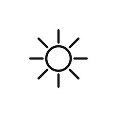 The icon of Sun. Simple outline icon illustration, vector of Sun for a website or mobile application