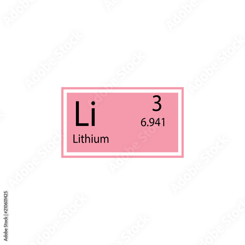 Periodic Table Element Lithium Icon Element Of Chemical Sign Icon
