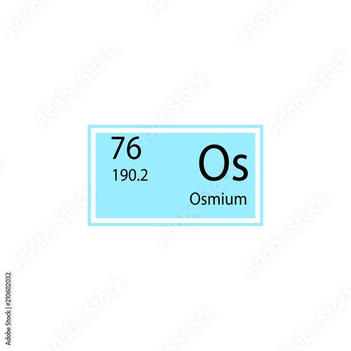 Periodic Table Element Osmium Icon Element Of Chemical Sign Icon