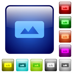 Panorama picture color square buttons