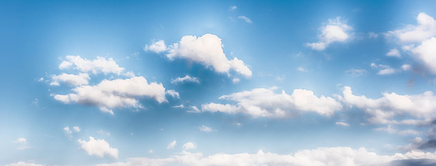 Blue sky with scenic clouds texture, useful as background