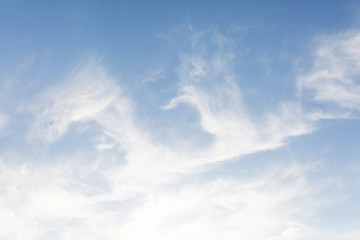 Pretty blue sky with white clouds