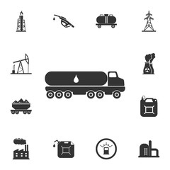 Truck carrier fuel icon. Simple element illustration. Truck carrier fuel symbol design from Petrol collection set. Can be used for web and mobile