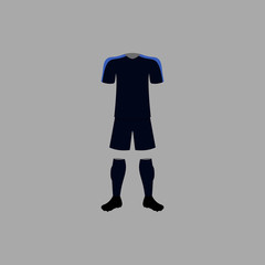 France national football form illustration. Detailed national soccer form illustrations. Premium quality graphic design icon. One of the collection icon for websites, web design
