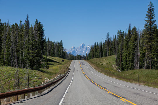 Road Along Teton National Park
