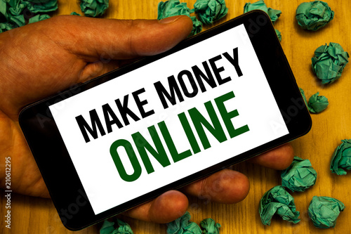 Handwriting text Make Money Online  Concept meaning Business