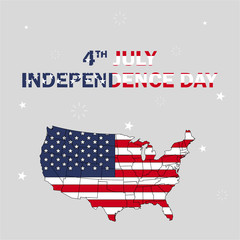 The celebration of the Independence Day in USA. Fourth of July Independence Day of America. Vector illustration.