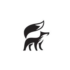 elegant stand fox art logo
