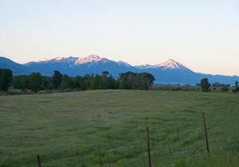 Snow Capped Absaroka Mountain Range in Paradise Valley Montana