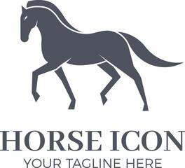 Elegant horse sillhouete icon. Vector illustration animal logo design