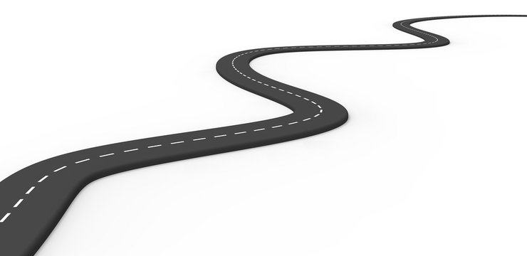 3d road isolated