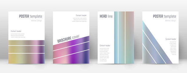 Flyer layout. Geometric neat template for Brochure, Annual Report, Magazine, Poster, Corporate Presentation, Portfolio, Flyer. Alive color gradients cover page.