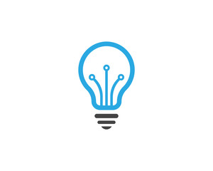Vector light bulb symbol