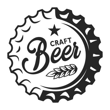 Vintage beer cap logo