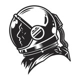vintage space helmet concept stock image and royalty free vector