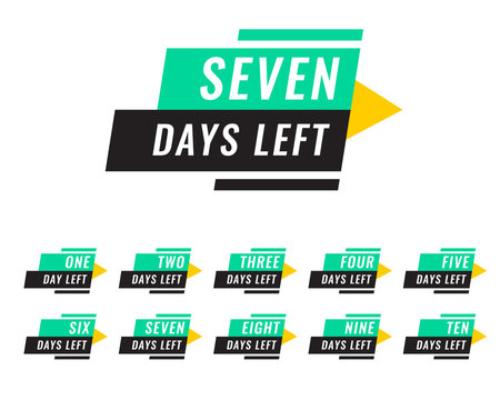 modern number of days left tags