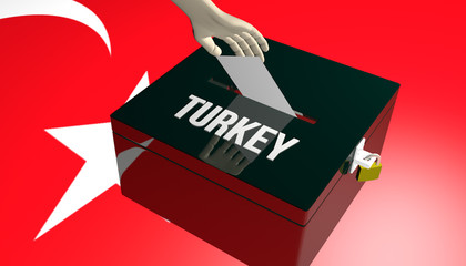 Turkey Elections ballot Concept
