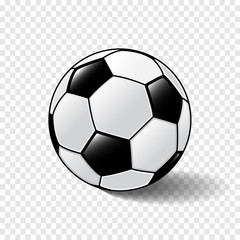Football on transparent background-Vector Illustration