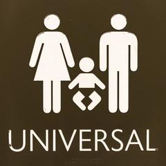 Universal Bathroom Sign