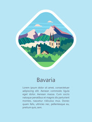 Bavaria. Vector illustration.