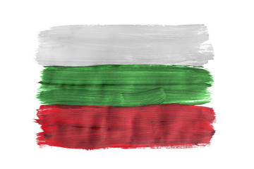 Painted Bulgarian flag isolated