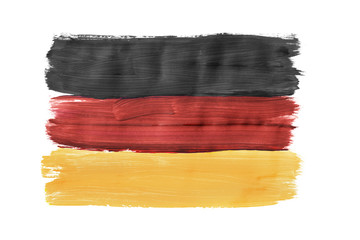 Painted German flag isolated