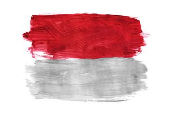 Painted Monako flag isolated
