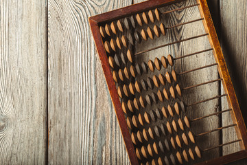Vintage abacus close up