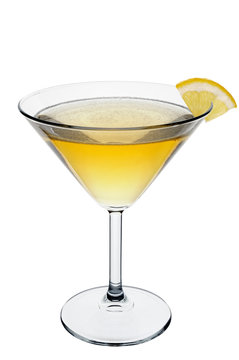 Sidecar Cocktail. A classic cocktail made with cognac, orange liqueur and lemon juice