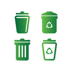 Trash bin logo design template