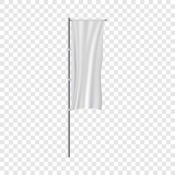 White panel flag mockup. Realistic illustration of white panel flag vector mockup for web