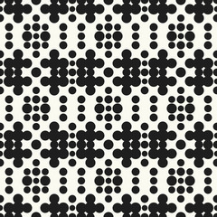 Seamless pattern halftone design. Modern textile print with dots. Vector fashion background. Grunge dirty circles.