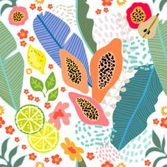Tropical fruit garden.