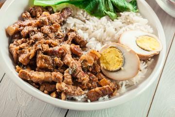 Taiwanese braised pork over rice