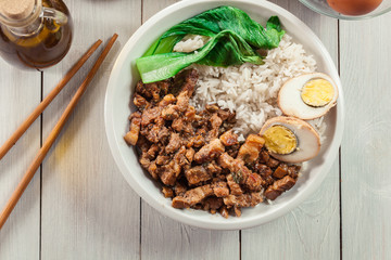 Taiwanese braised pork over rice