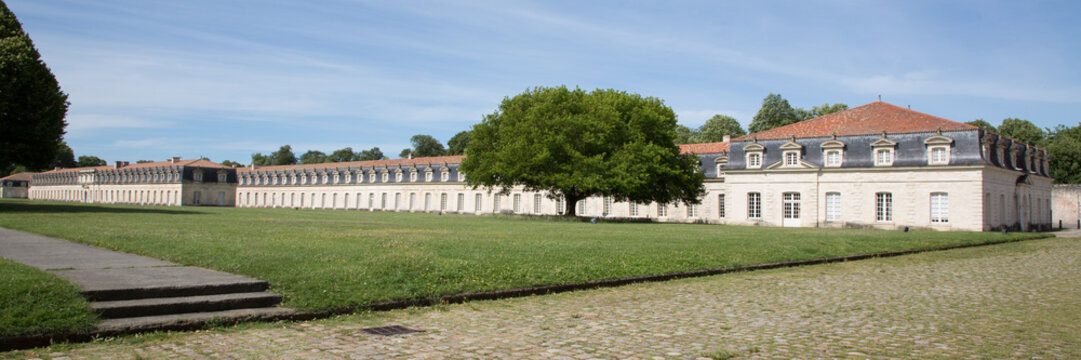 large Panorama of the corderie royale in Rochefort, France, Europe