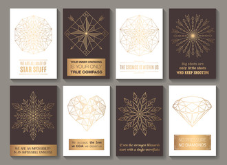 Motivational cards golden