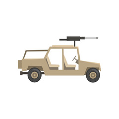 Armored military vehicle, army machine, heavy, special transport vector Illustration on a white background