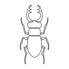 Stag beetle icon, deer beetle
