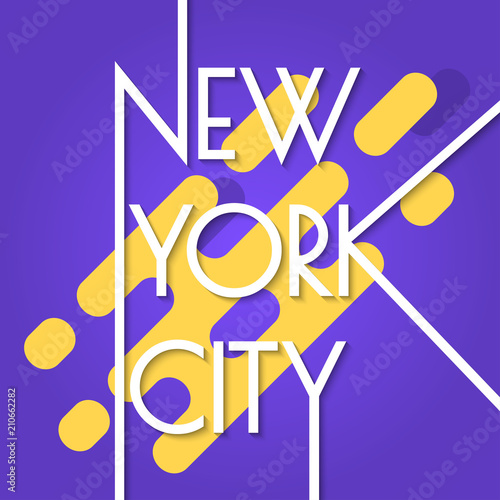 New York city banner isolated on the abstract background  NYC