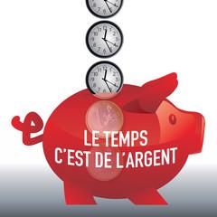 argent - le temps c'est de l'argent - concept - riche - réussite - succès - gagner de l'argent