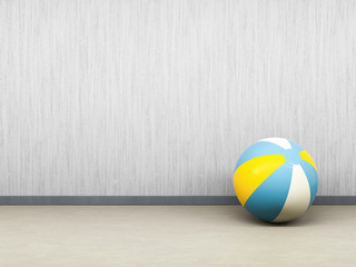 single beach ball on the floor