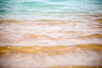 Photo of coastal zone with waves
