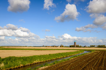 Picturesque landscape in the Netherlands