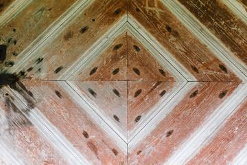 detail of the old barn door