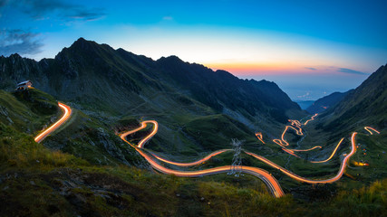 Photo sur Aluminium Noir Transfagarasan road, most spectacular road in the world