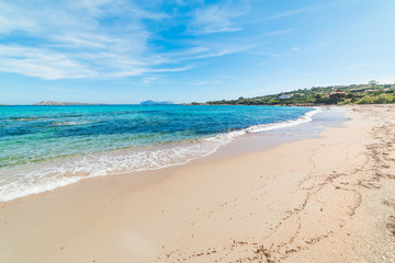 White sand and turquoise water in Costa Smeralda