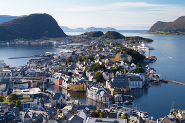 Alesund from the Fjellstua Viewpoint